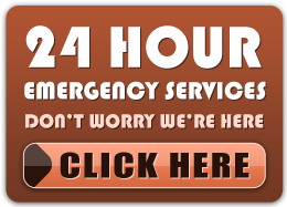 24 hour emergency services - don't worry we're here - click here
